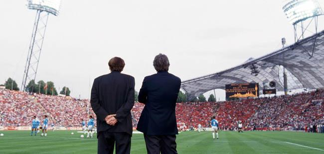 Stade Olympique de Munich - Raymond Goethals / Bernard TAPIE