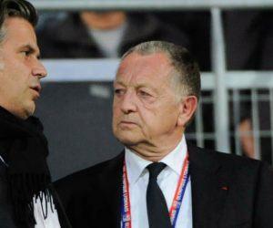 Bernard LACOMBE / Vincent LABRUNE / Jean Michel Aulas - 04.05.2014 - Marseille / Lyon