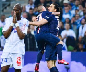 Joie Zlatan IBRAHIMOVIC / Marco VERRATTI - 05.04.2015 - Marseille / Paris Saint Germain