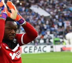 Steve Mandanda - 10.05.2015 - Marseille / Monaco - 36eme journee de Ligue 1 Photo : Alexandre Dimou / Icon Sport