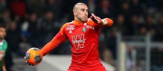 Stephane Ruffier - 07.02.2014 - Toulouse / Saint Etienne - Ligue 1