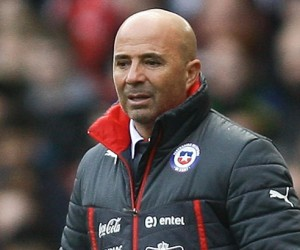 Jorge Luis Sampaoli Moya  - 29.03.2015 - Bresil / CHili - match amical -Londres Photo : Zemanek / BPI / Icon Sport