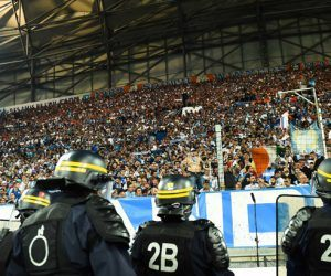 Illustration CRS / Supporters Marseille - 20.09.2015 - Marseille / Lyon - 6eme journee de Ligue 1 Photo : Alexandre Dimou / Icon Sport