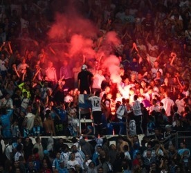 Supporters Marseille - 20.09.2015 - Marseille / Lyon - 6eme journee de Ligue 1 Photo : Alexandre Dimou / Icon Sport