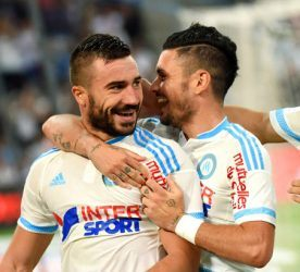 Joie Romain Alessandrini - 13.09.2015 - Marseille / Bastia - 5e journee Ligue 1 Photo : Alexandre Dimou / Icon Sport