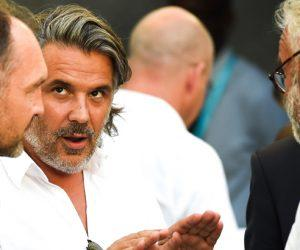 Stephane Guy / Vincent Labrune / Olivier Rouyer - 01.08.2015 - Marseille / Juventus Turin - Match Amical Photo : Alexandre Dimou / Icon Sport