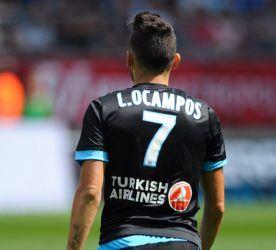 Lucas OCAMPOS - 16.08.2015 - Reims / Marseille - 2eme journee de Ligue 1 Photo : Andre Ferreira / Icon Sport