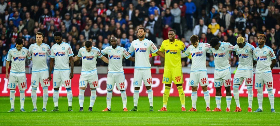 Groupe Mareille - 25.10.2015 - Lille / Marseille - 11eme journee de Ligue 1 Photo: Dave Winter / Icon Sport