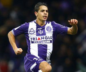 Joie Wissam Ben Yedder  - 05.12.2015 - Toulouse / Lorient - 17e journee Ligue 1 Photo : Manuel Blondeau / Icon Sport