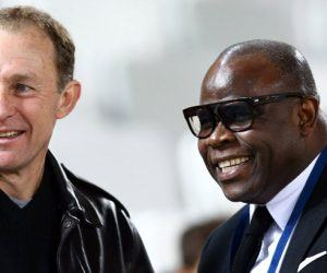Jean Pierre Papin / Basile Boli - 20.12.2015 - Bordeaux / Marseille - 19eme journee de Ligue 1 Photo : Manu Blondeau / Icon Sport *** Local Caption ***