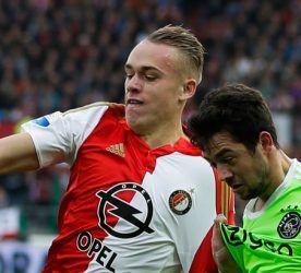 Rick Karsdorp / Amin Younes - 08.11.2015 - Feyernoord Rotterdam / Ajax Amsterdam - Eredivise Photo : Maurice van Steen / VI Images / Icon Sport