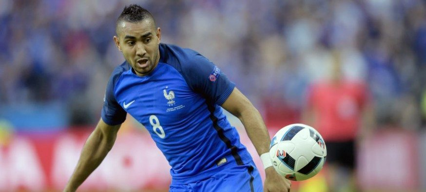 Dimitri Payet  during the France and Romania at Stade de France