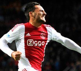 Joie Nemanja Gudelj - 26.09.2015 - Ajax Amsterdam / Groningen - 4eme journee de Eredivisie Photo : Soenar / Icon Sport