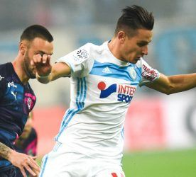Florian Thauvin of Marseille during the French Ligue 1 match between Marseille and Bordeaux at Stade Velodrome on October 30, 2016 in Marseille, France. (Photo by Alexandre Dimou/Icon Sport)