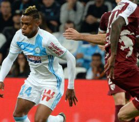 Clinton NJIE of Marseille during the Ligue 1 match between Olympique de Marseille and FC Metz at Stade Velodrome on October 16, 2016 in Marseille, France. (Photo by Mathieu Valro/Icon Sport)