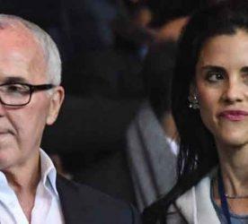 Marseille owner Frank McCourt, Monica McCourt, wife of Marseille owner Frank McCourt.