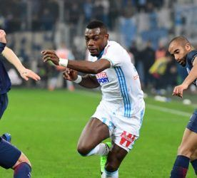 Henri Bedimo of Marseille during the French Ligue 1 match Marseille and Paris Saint Germain at Stade Velodrome on February 26, 2017 in Marseille, France. (Photo by Dave Winter/Icon Sport)