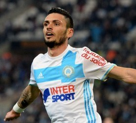 Remy CABELLA of Marseille celebrates his goal during the Ligue 1 match between Olympique de Marseille and SCO Angers at Stade Orange Velodrome on March 10, 2017 in Marseille, France. (Photo by Mathieu Valro/Icon Sport)