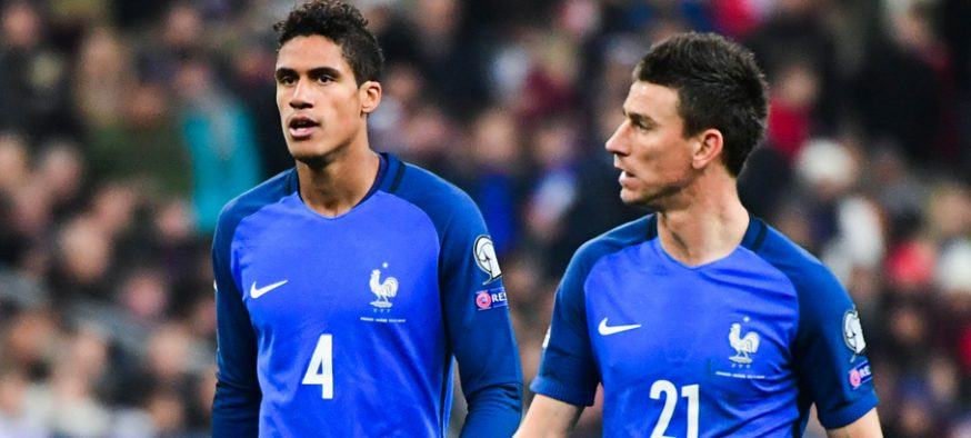 (L-R) Raphael Varane and Laurent Koscielny of France during the FIFA World Cup 2018 qualifying match between France and Sweden at Stade de France on November 11, 2016 in Paris, France. (Photo by Dave Winter/Icon Sport)