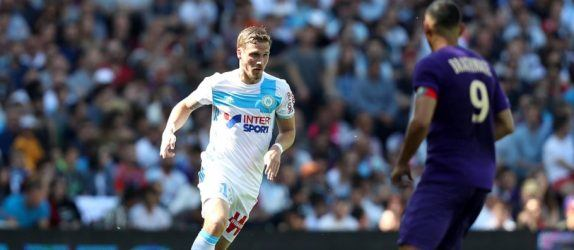 Gregory Sertic of Marseille during the Ligue 1 match between Toulouse FC and Olympique de Marseille at Stadium Municipal on April 9, 2017 in Toulouse, France. (Photo by Manuel Blondeau/Icon Sport)