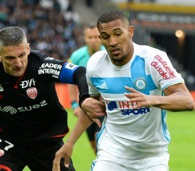 William Vainqueur of Marseille during the French Ligue 1 match between Marseille and Dijon at Stade Velodrome on April 1, 2017 in Marseille, France. (Photo by Mathieu Valro/Icon Sport)