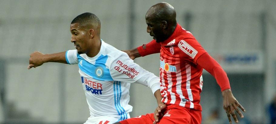 William VAINQUEUR et Alou DIARRA, match Marseille - Nancy
