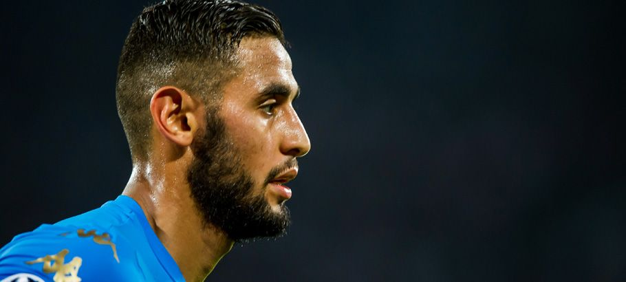 Faouzi Ghoulam of Napoli during the Champions League match between Napoli and Dinamo Kiev on 23th November 2016 Photo : Giuseppe Maffia/ VI Images / Icon Sport