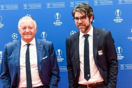 Jean Michel Aulas président de Lyon avec Juninho