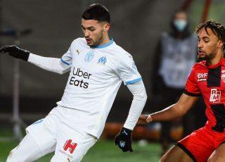 Nemanja RADONJIC avec l'OM en Ligue 1 contre Dijon